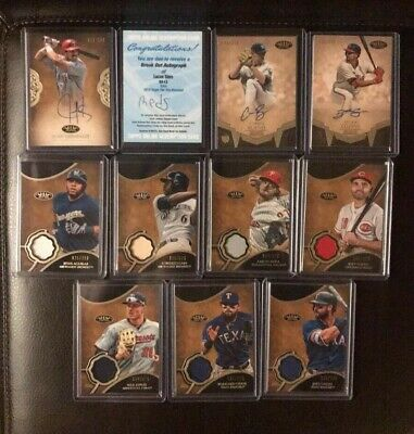 2019 Topps Tier One (11) Card Auto Relic Bat Jersey Rookie Card Lot Sims Cozens