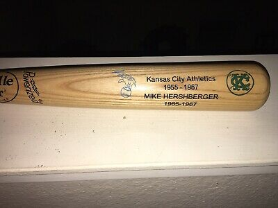 "Mike Hershberger Oakland Kansas City KC A's Athletics Full Bat 33"" Very Rare 1/1"