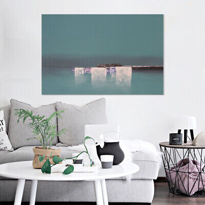 Hand Painted Canvas Oil Painting Wall Art Home Decor Framed - Abstract Seaside