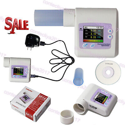 CONTEC Respiratory Spirometer SP10 PC Software,Pulmonary Function,Lung Volume,CE