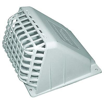 """4"""" Deflecto Dryer Vent Hood White Exhaust Fan Cover Wide Mouth Removable New"""
