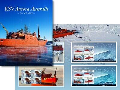 2019 AAT The Aurora Australis collection contains four minisheets limited to 200