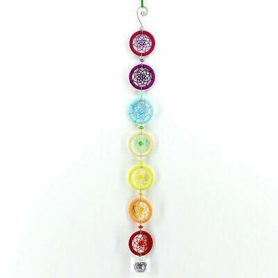 Colorful Chakra Crystal Dream Catcher Wall Hanging Decoration Ornament Rainbow