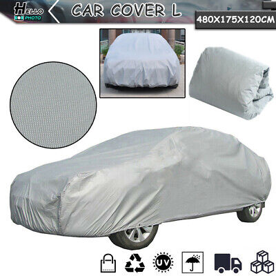 Universal L Size Full Car Cover Waterproof UV Protection Resistant Anti-Scratch