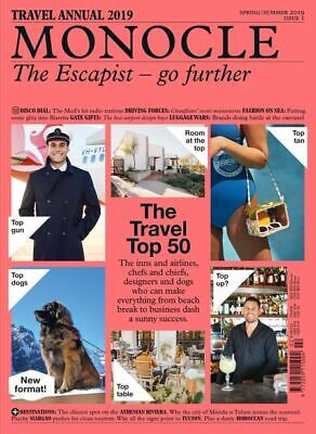 Monocle Magazine Travel Annual 2019 Special Edition Issue 1 The Escapist