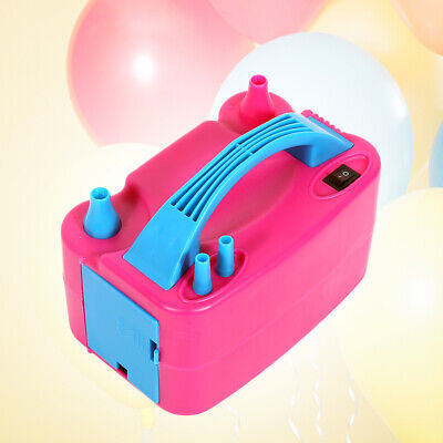 Portable 600W Dual Nozzle Electric Balloon Pump Inflator Air Blower Party UK esz