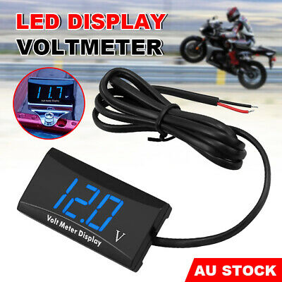 Battery Monitor DC 12V LED Digital VoltMeter Gauge Voltage Marine Caravan Car AU