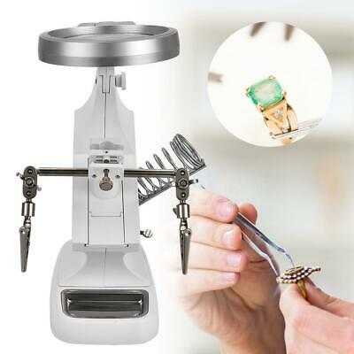 Helping Hand Soldering Stand With 10 LED LightS Clip Magnifier Magnifying Glass