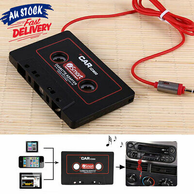 Car Tape Converter to AUX Stereo Audio Adapter iPhone iPod MP3 Cassette for