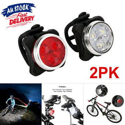 Waterproof USB Bike Lights Bicycle Tail Light Rechargeable Front Rear Lamp IPX4