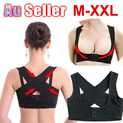 Women Chest Vest Adjustable Shoulder Back Posture Corrector Support Belt Brace