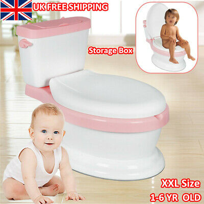 New Padded Pink Toddler Potty Training Toilet Seat Kids Baby Urinal Loo Trainer