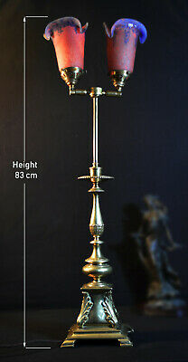 vintage 1940s French New-Classical design double headed brass articulated lamp