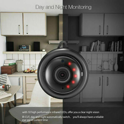 Mini Wireless HD WIFI IP Night Vision Camera Smart Home Security Cam TOP 1080P