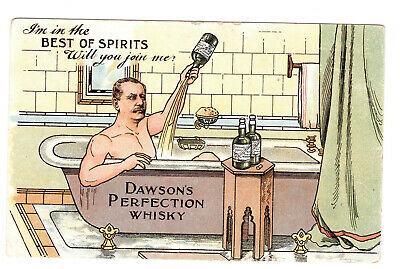 Dawson's Perfection Whisky Postcard 1907