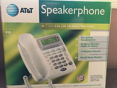 AT&T Corded Home Office Land Line Speaker Phone With Caller ID  Desk Wall Mount