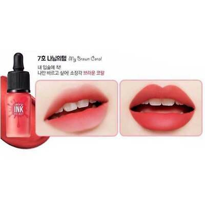 PERIPERA Ink Airy Velvet 8g (0.28oz) Lip Lacquer Lip Tint #7 My Brown Coral