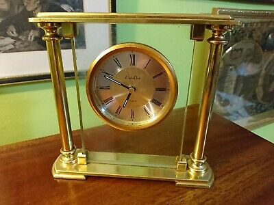 London Clock Company Brass and Glass 'Floating Clock'
