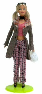 Barbie Doll FASHION FEVER H0645 Tweed jacket Pink plaid pants Blonde NEW ooak