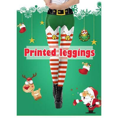 Womens Christmas Gym Yoga Stretchy Legging Sport Running Pants Fitness Trousers