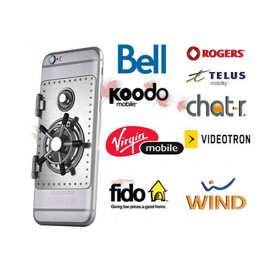 Instant Iphone & Android Unlocking For Rogers / Fido/ Telus / Chatr / Bell / Etc