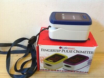 Lifemax Fingertip Pulse Oximeter - Fully Working With Box
