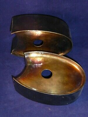 Signed, Hand Hammered. Silver Plated, Dirk Van Erp Candlestick Holders