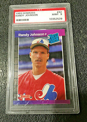 1989 Score Rising Stars 63 Randy Johnson Psa 9 Rookie Low