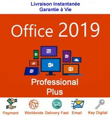Office 2019 Professional Plus Pour WIN 10 32/64 BIts Licence Authentique Produit