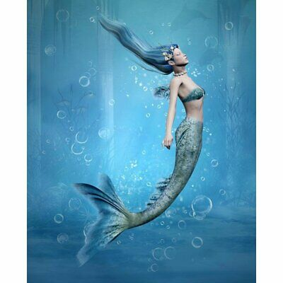 Creative Wall Artwork Of Mermaid Unframed Canvas Painting For Living Room Décor