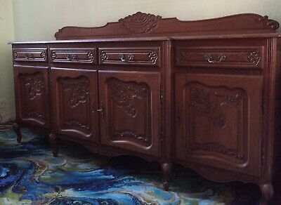 French sideboard Antique Louis XV Oak Beautiful