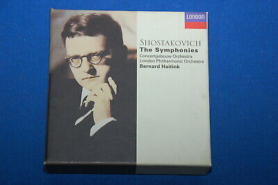 Haitink Shostakovich The 15 Symphonies German London 10 CD Box Mint