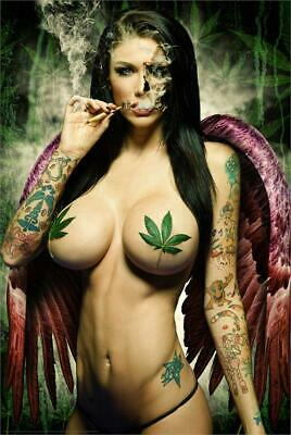 Ganja Girl Poster by: Daveed Benito 24-by-36 Inches
