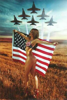 All American Girl Poster by: Daveed Benito 24-by-36 Inches