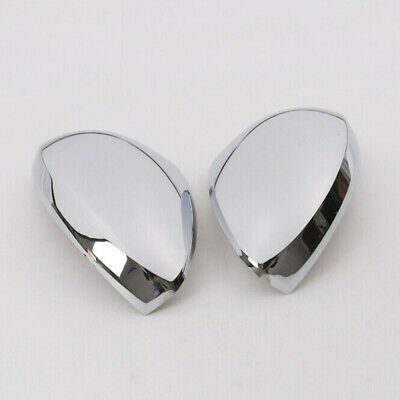 2pcs Rearview Mirror cover Decoration Plastic Silver Frame Accessory Durable