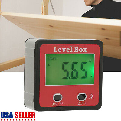 LCD Digital Angle Cube Finder Magnetic Inclinometer Gauge Protractor Level Saw