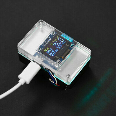 DIY PM2.5 Environment Detector Kit Air Quality Monitor & Transparent Case O5G7