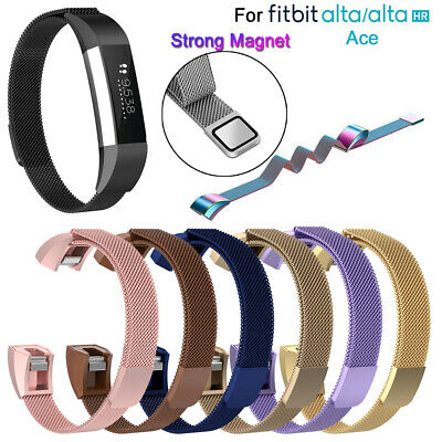 Band Strap Wristband Magnetic Milanese Stainless Steel For Fitbit Alta HR ACE