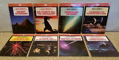 8 Isaac Asimov Library Of The Universe Books, Soft Cover Lot, Science, VGUC