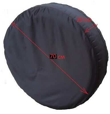 70 cm Black Spare Wheel Cover Storage Carry Tyre Bag With Zipper Protection Car