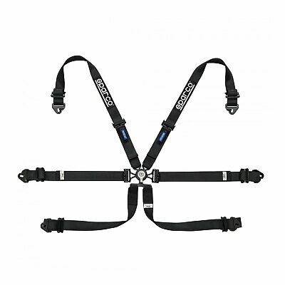 Sparco Safety Belts 6 - points 04818RALPD Black (with homologation FIA)