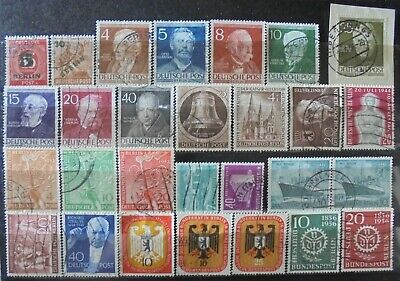 GERMANY (Berlin) 1949-56 Excellent Collection of 28 Mainly Used