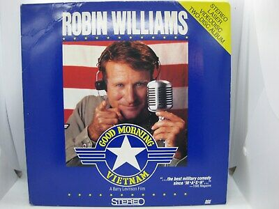 Good Morning Vietnam Laserdisc stars Robin Williams & directed by Barry Levinson