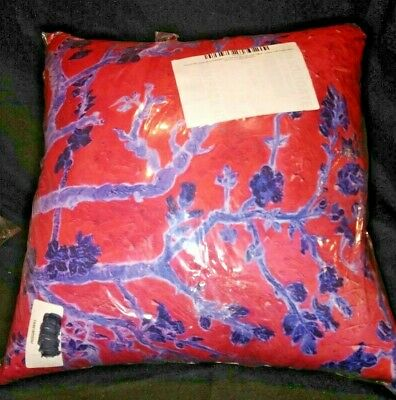 "Vincent Van Gogh Almond Blossom in Red & Blue 20"" x 20"" Pillow Dbl Sided Cotton"