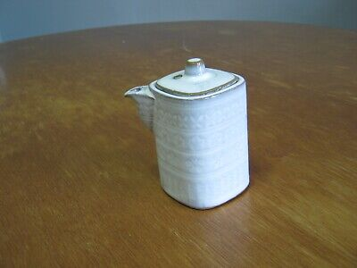 Vintage Japanese Small White Teapot With Lid - 3 Inches tall