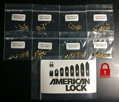 American Lock Pinning Kit 160 New Pins - Master Lock Pins
