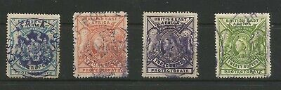 British East Africa (Kut) 1897/1903 Higher Values - Fiscal Cancels To 20 Rupee