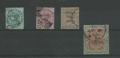 British East Africa (Kut) 1895 Small India Opt Collection With Values To 3 Rupee