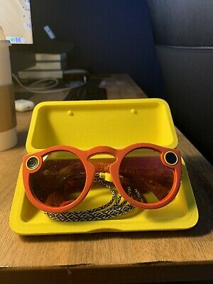 Snapchat Spectacles Glasses Coral NEVER USED Snap Specs Unisex