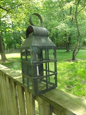 Vintage Wall Sconce Solid Brass Light Lighting Lamp Lantern  Colonial  One